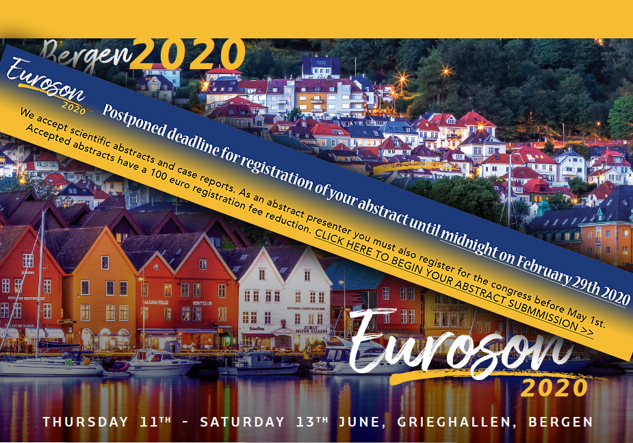 EUROSON 2020, Bergen: Abstract Deadline Extended to February 29th!