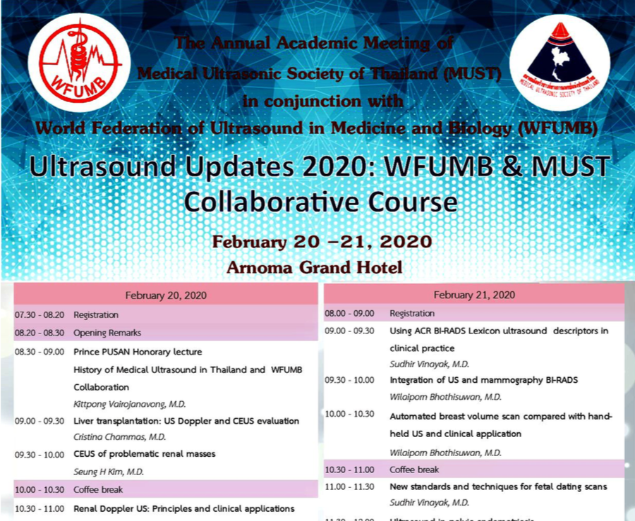 WFUMB MUST 2020 Collaborative Course