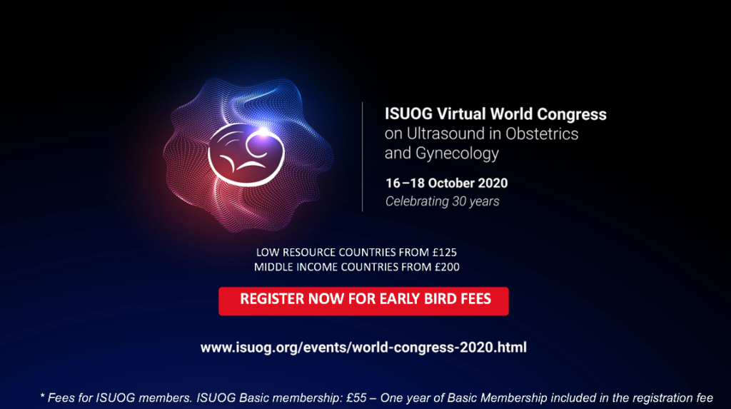 ISUOG Virtual World Congress on Ultrasound in Obstetrics and Gynecology 2020