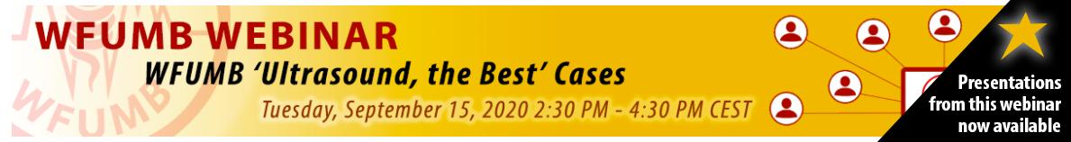 Webinar: WFUMB 'Ultrasound, the Best' Cases