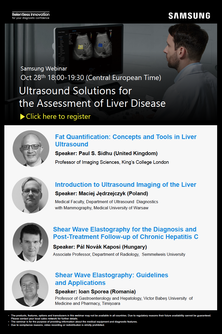 Samsung Webinar: Ultrasound Solutions for the Assessment of Liver Disease