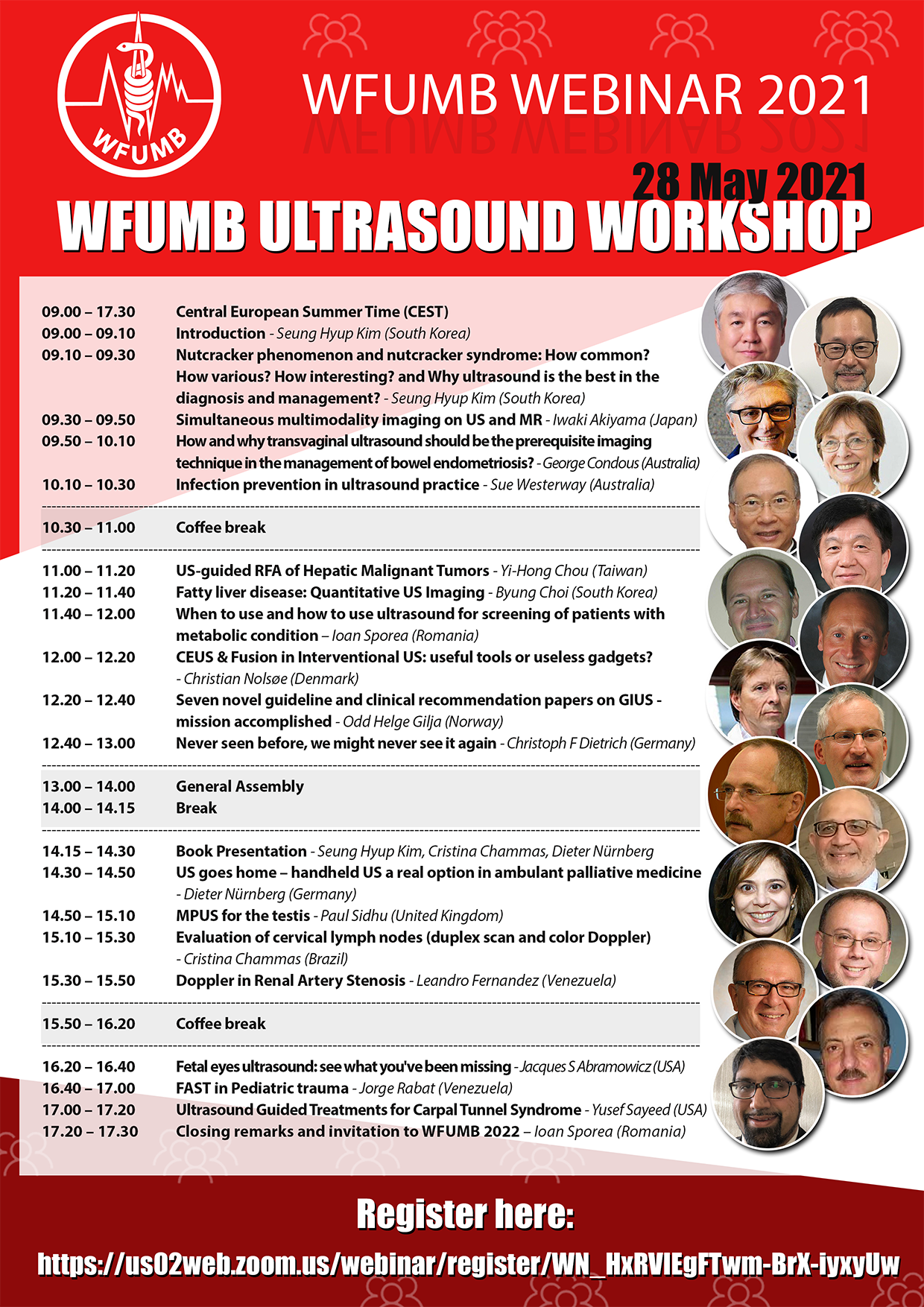 WFUMB Ultrasound Workshop 28 May 2021 09.00 - 17.30 CEST