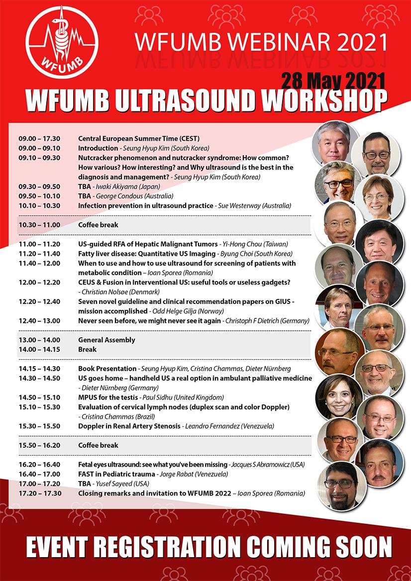 WFUMB Ultrasound Workshop 28 May 2021 09.00 - 17.30 CEST