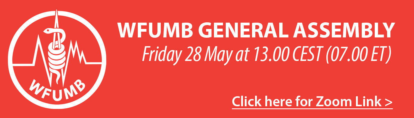 WFUMB General Assembly Friday 28 May at 13.00 CEST (07.00 ET)