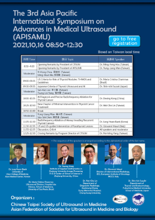 The 3rd Asia Pacific International Symposium on Advances in Medical Ultrasound (APISAMU) 2021